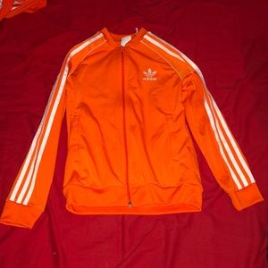 "Orange Adidas ""Superstar"" Track jacket"